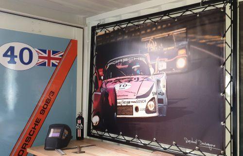 Bache garage décorative