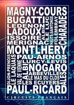 Affiche Poster déco automobile circuits français