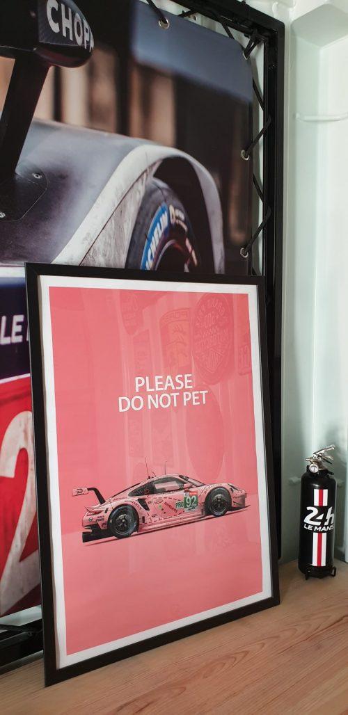 Affiche déco Last Corner Porsche Pink Pig