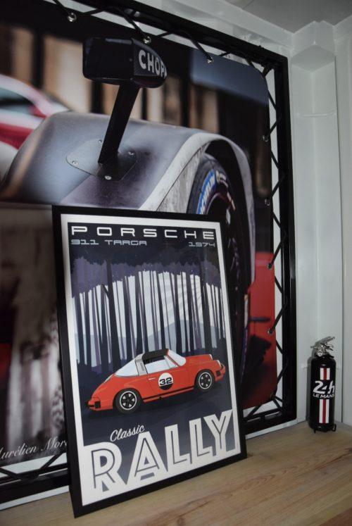 afffiche déco print Porsche Targa