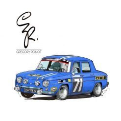 Illustraations Grégory Ronot R8 Gordini