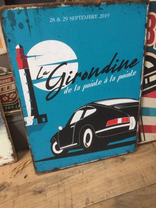 """Plaque Métal déco garage vintage """"La Girondine"""""""
