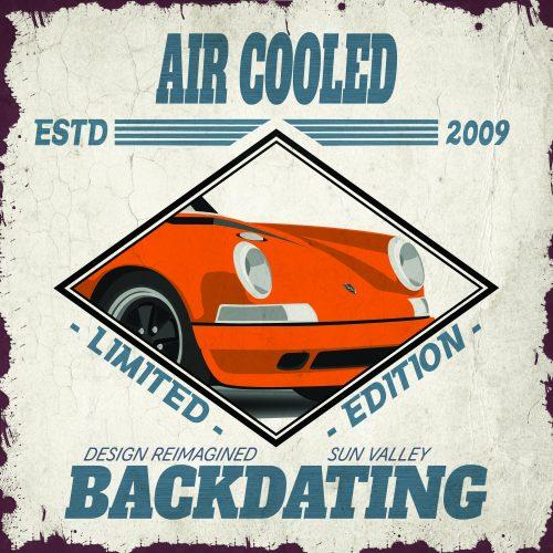 Plaque métal de garage Porsche Air Cooled Orange