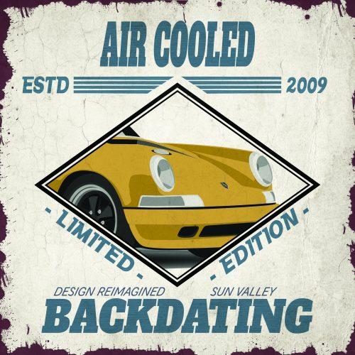 Plaque métal Vintage Garage Porsche Air cooled Pink