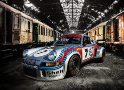 Plaque déco vintage 911 RSR TURBO 30X40
