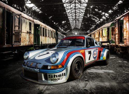 Plaque métal déco vintage 911 RSR TURBO 30X40