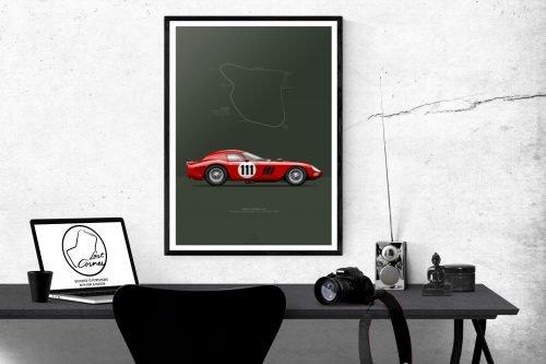 Poster Ferrari 250 GTO 1964 last corner