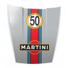 Capot deco Porsche Martini Gris