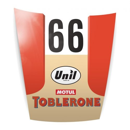 Capot déco Porsche Toblerone
