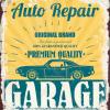 Plaque métal décoration garage vintage repair