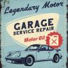 Plaque métal décoration vintage garage Porsche