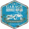 Plaque décoration garage vintage service repair