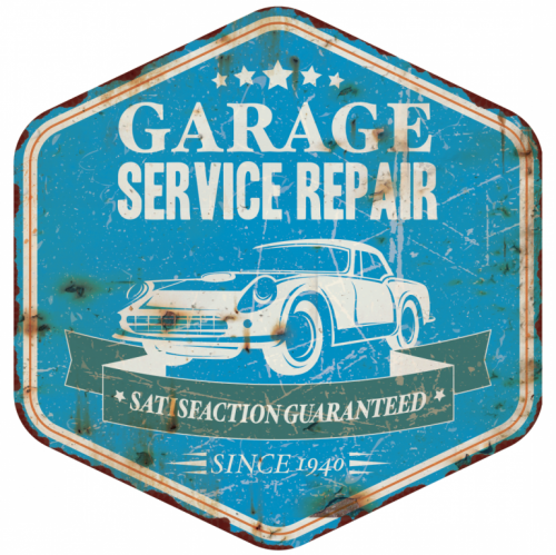 Plaque décoration garage vintage service repair