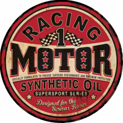 Plaque métal vintage racing motor