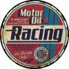 Plaque métal vintage motor oil racing
