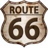 Plaque vintage déco marron route 66