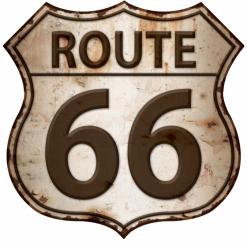 Plaque vintage route 66