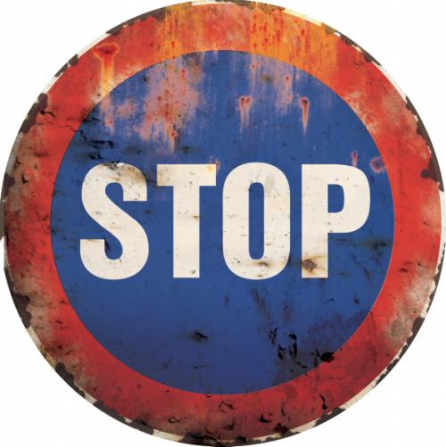 plaque métal vintage panneaux de route