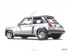 Poster Renault turbo2 DBCarillustrations