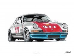 illustrations DBCarillustrations Poster Porsche Magnus Walker