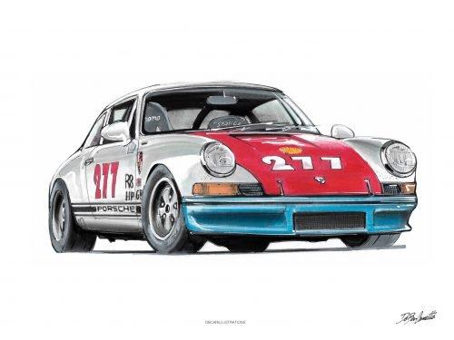 illustrations DBCarillustrations Poster Porsche Magnus Walker