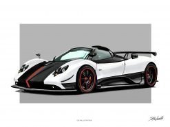 illustration DBCarillustrations Poster Zonda Cinque