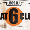 Plaque metal Flat6 Club