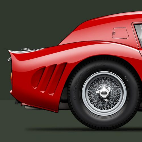 Last Corner vue arrière Ferrari 250 GTO 1964
