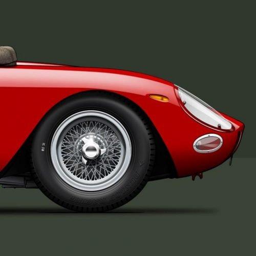 Last Corner vue avant Ferrari 250 GTO 1964