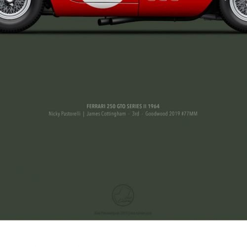 Poster Last Corner Ferrari 250 GTO series II 1964