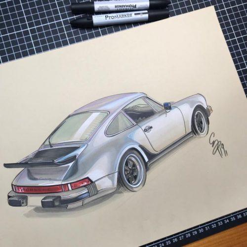 Illustrations Grégory Ronot Porsche 911