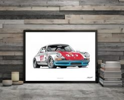 illustration Poster Porsche 911 Magnus walker DBCarillustrations