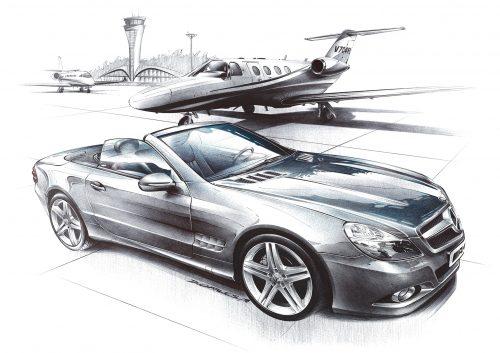 Illustration Damien Charles Mercedes SL500 AMG