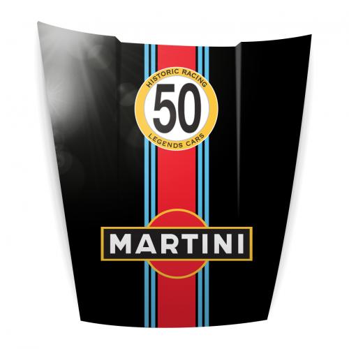 Capot Déco Porsche noir Martini
