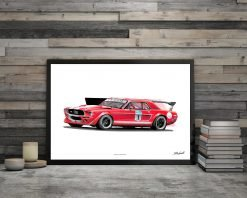 illustration Poster Ford Mustang DBCarillustrations
