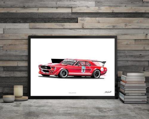 illustration Poster Ford Mustang DBCarillustrations