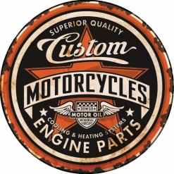 Optez pour une plaque métal vintage Custom . Fabrication made in France
