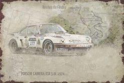 Plaque métal Porsche 911 Carrera RSR 3.0L