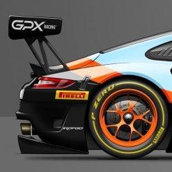 Poster Porsche 911 GT3R Last Corner