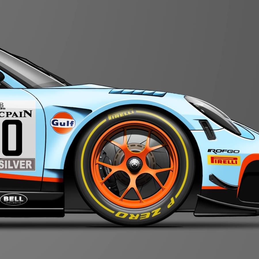 Affiche Porsche gt3 Last corner