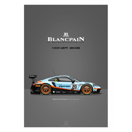 Poster Porsche 911 GT3 Last Corner