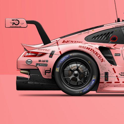Affiche Porsche 911 RSR Last Corner