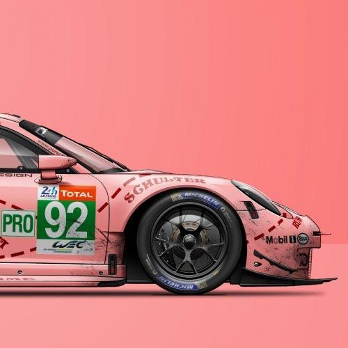Affiche Porsche 911 RSR Pink Pig Last Corner