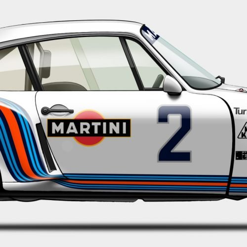 Illustration Last Corner Porsche 935