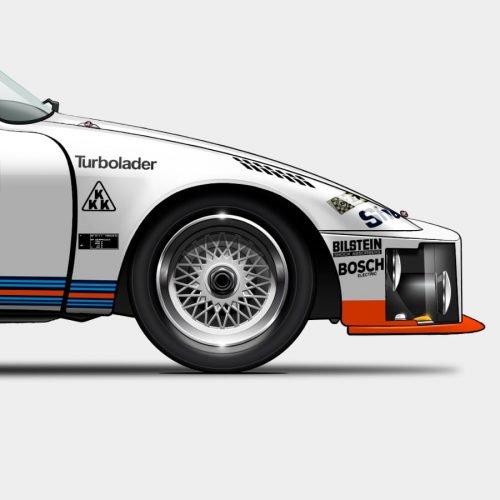 Illustration Last Corner Porsche 935 -76
