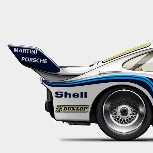 Illustration Last Corner Porsche 935