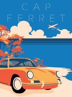 Plaque métal Déco Porsche CAP-FERRET