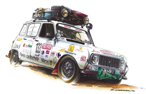 Illustration Damiens Charles Renault 4L