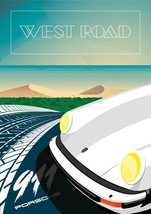 affiche Poster déco automobile Porsche 911