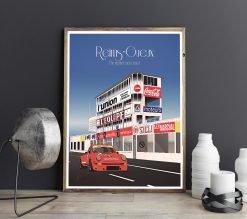 Poster-Affiche-Porsche-Circuit-Reims-Gueux